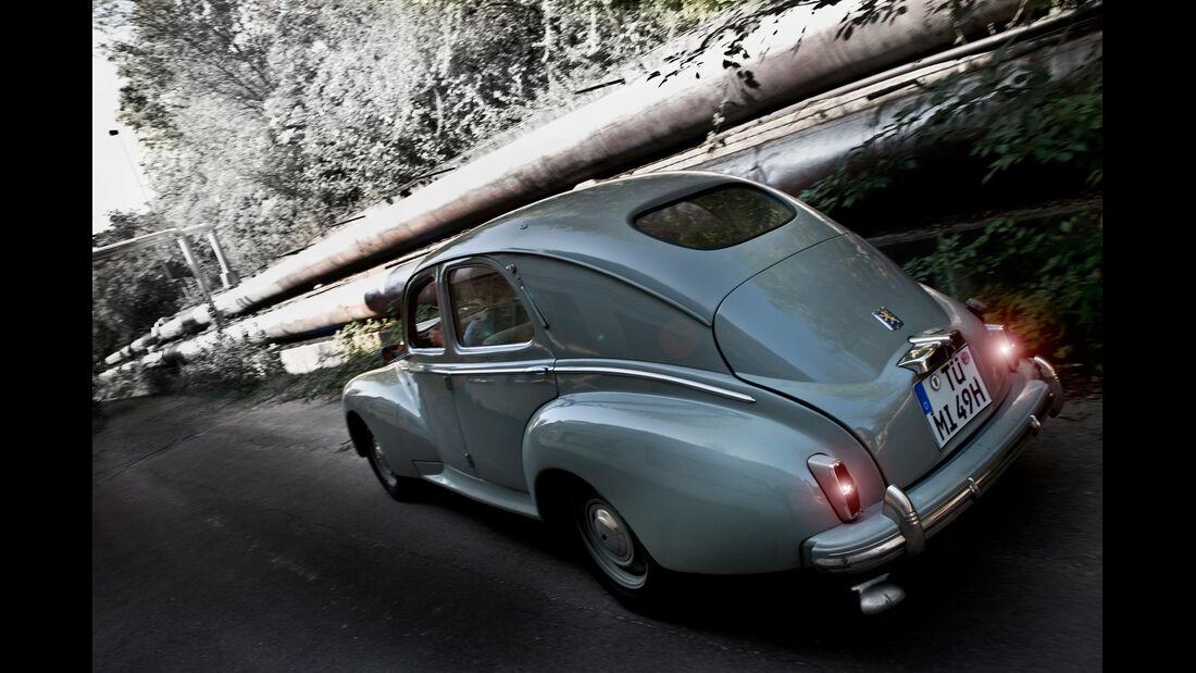 Peugeot 203, Heck, Heckleuchten