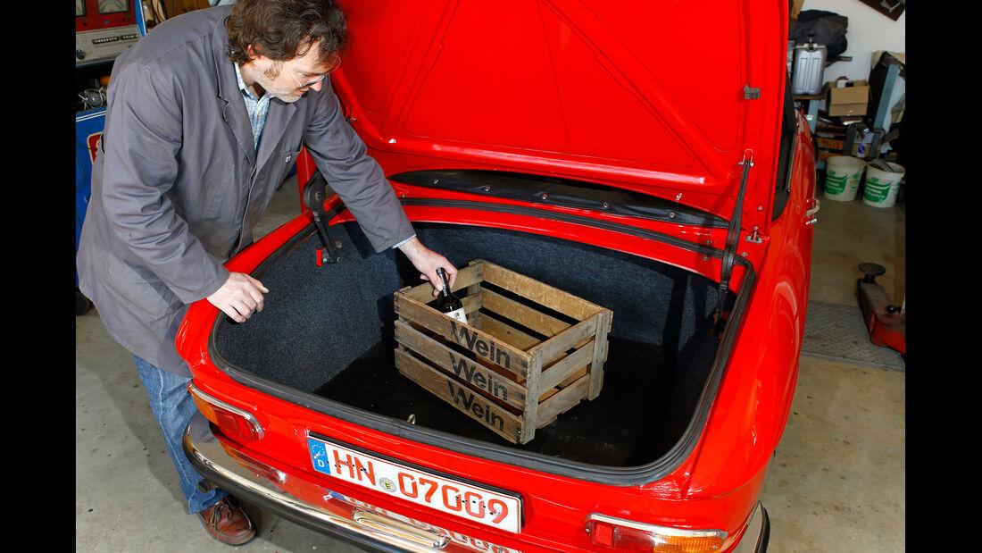 Peugeot 204 Cabriolet, Kofferraum