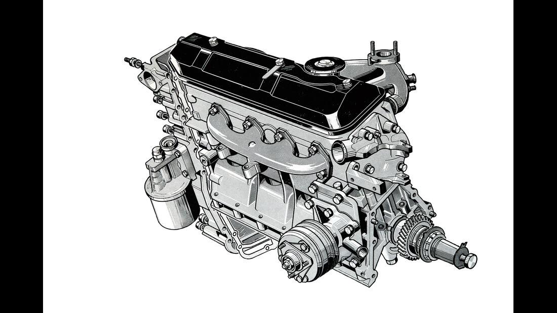 Peugeot 204 Cabriolet, Motor