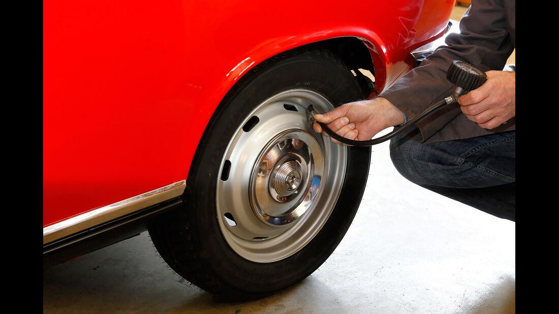 Peugeot 204 Cabriolet, Rad, Felge, Luftdruck
