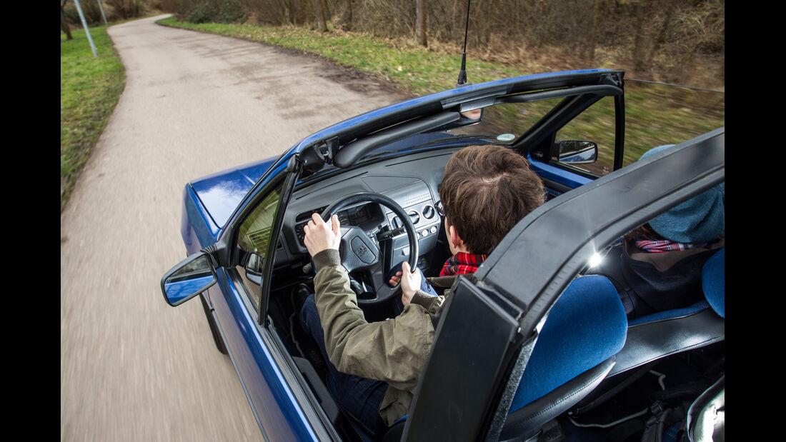 Peugeot 205 Cabriolet CJ, Cockpit, Fahrersicht