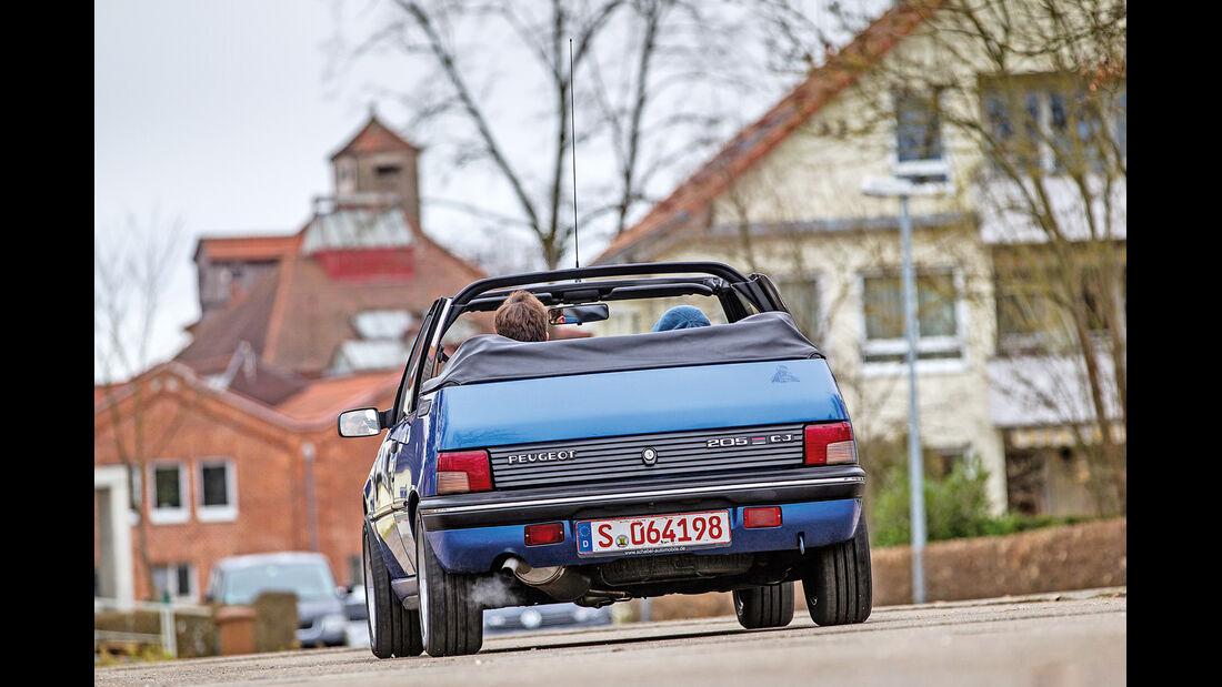 Peugeot 205 Cabriolet CJ, Heckansicht