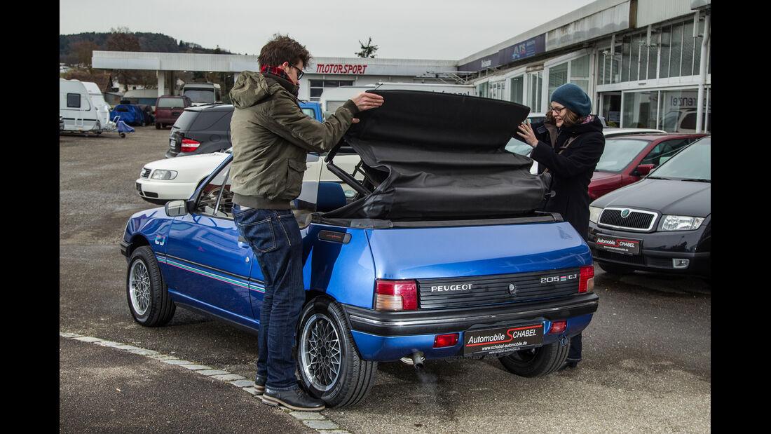Peugeot 205 Cabriolet CJ, Verdeck schließen