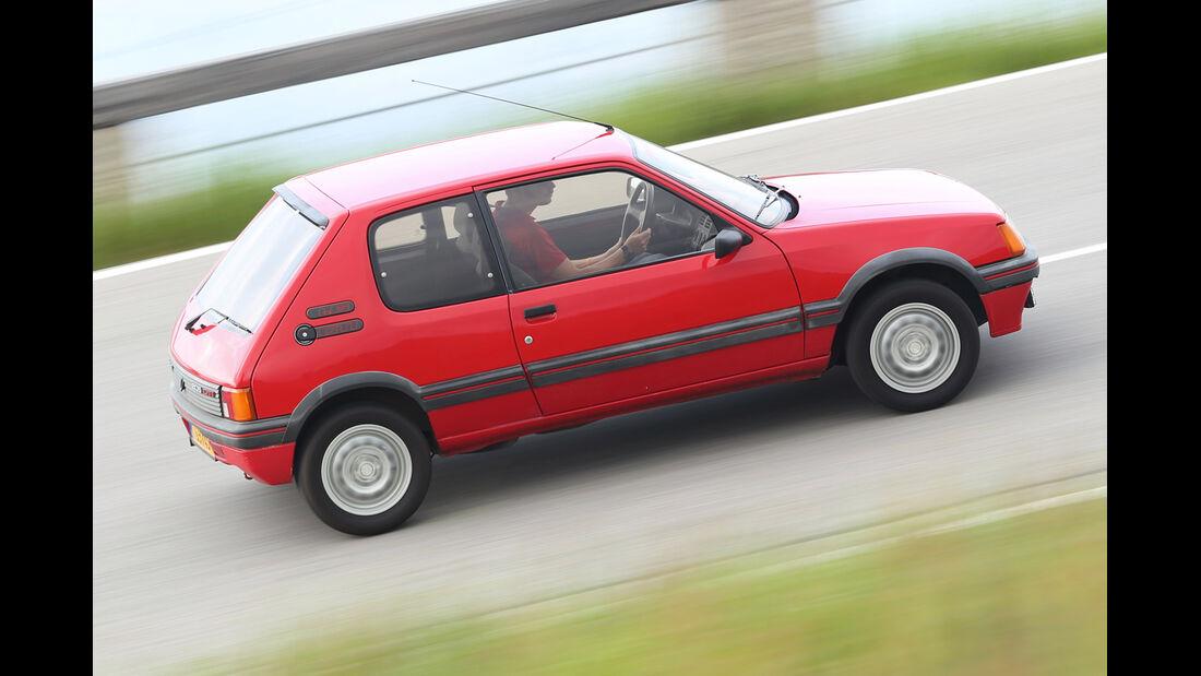Peugeot 205 GTi, Seitenansicht
