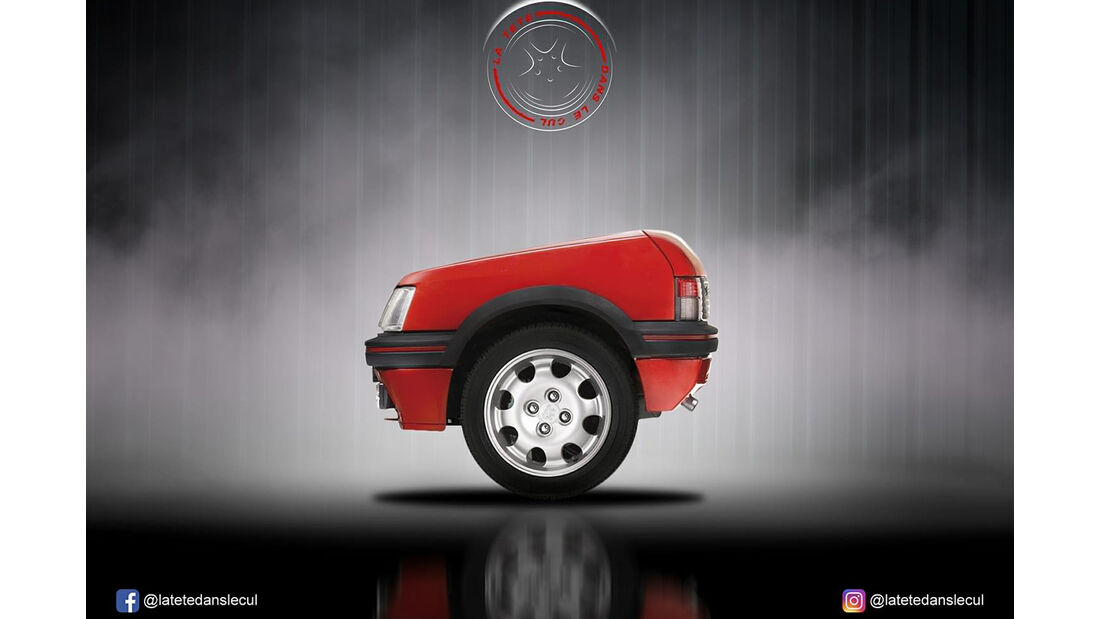 Peugeot 205 Retusche