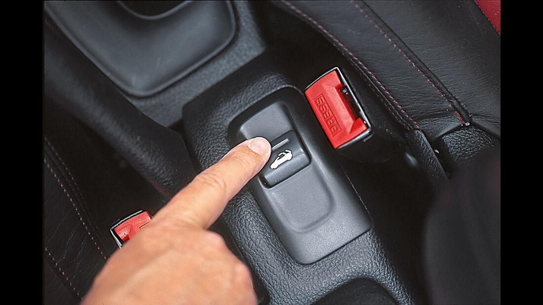 Peugeot 206 CC 110, Bedienelement