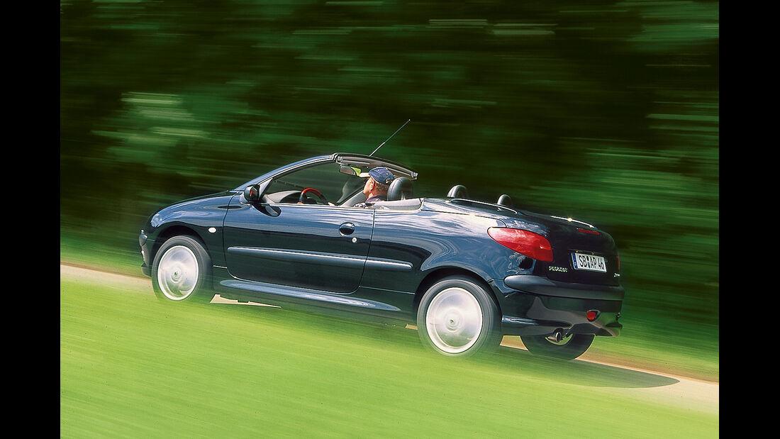 Peugeot 206 CC 110, Seitenansicht