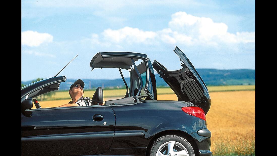 Peugeot 206 CC 110, Verdeck öffnet