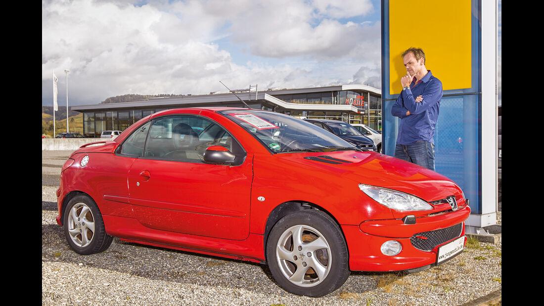 Peugeot 206 CC, Seitenansicht