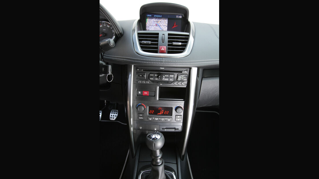 Peugeot 207 CC 155 THP, Mittelkonsole