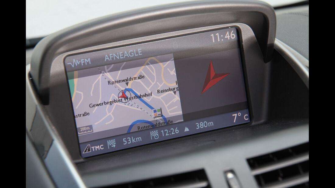 Peugeot 207 CC 155 THP, Navi, Bildschirm