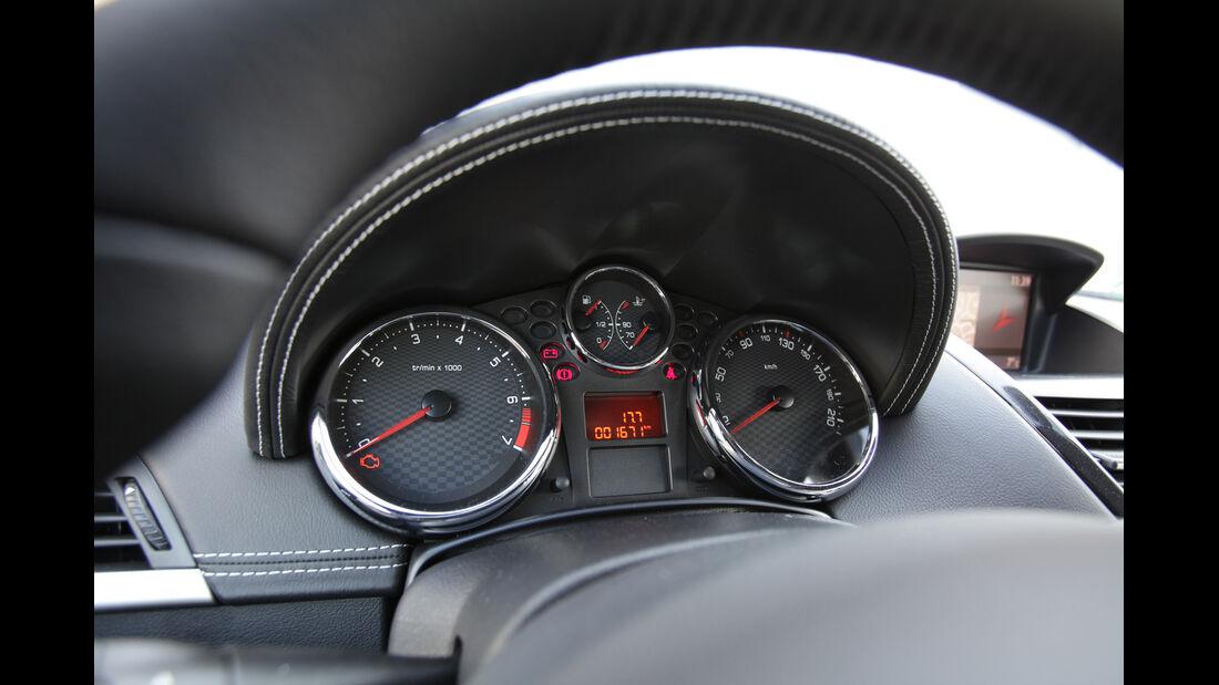 Peugeot 207 CC 155 THP, Tacho, Rundinstrumente