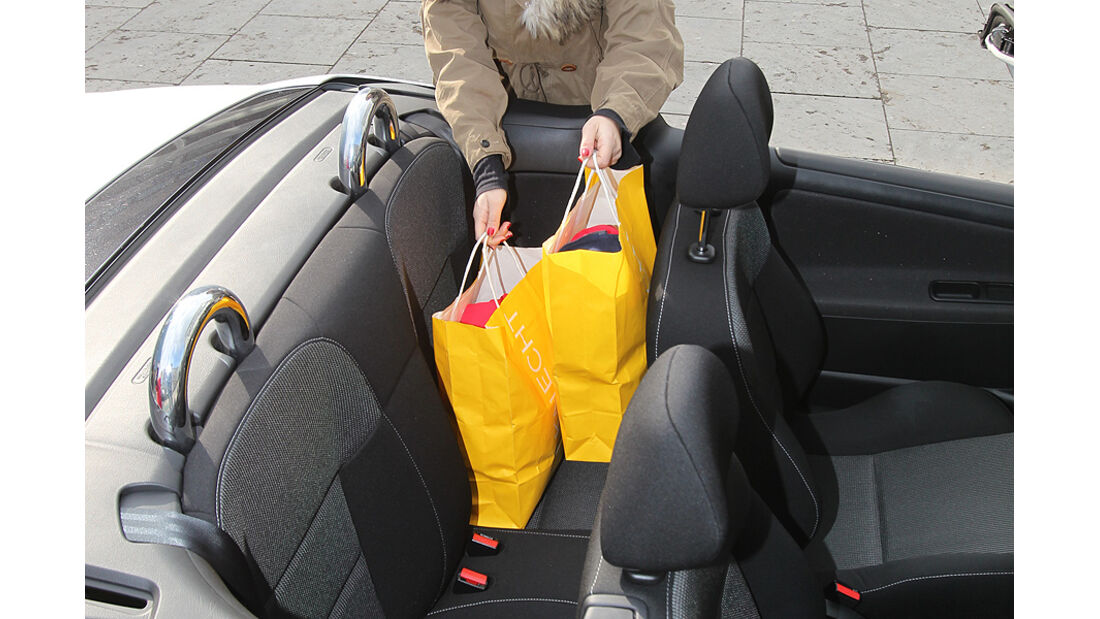 Peugeot 207 CC, Cabrio, Platzangebot, Rückbank