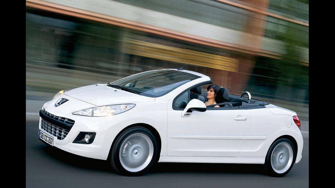 Peugeot 207 CC, Seitenansicht