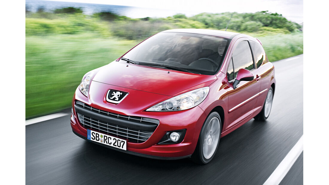 Peugeot 207 RC, Frontansicht