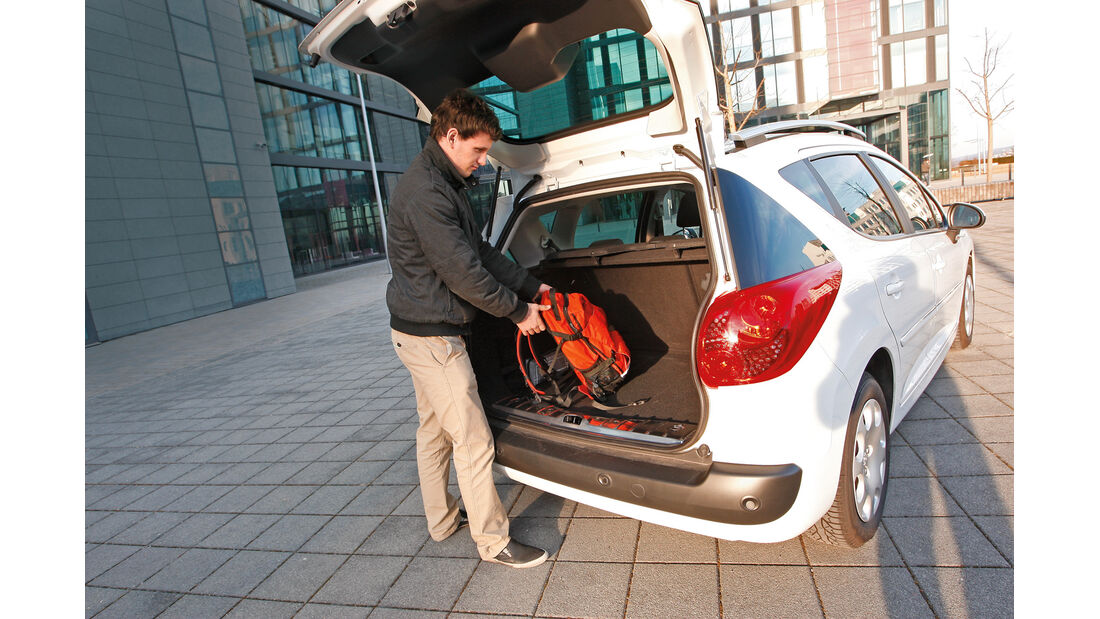 Peugeot 207 SW, Heckklappe, Kofferraum