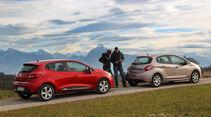 Peugeot 208 82 Vti, Renault Clio TCe 90, Seitenansicht