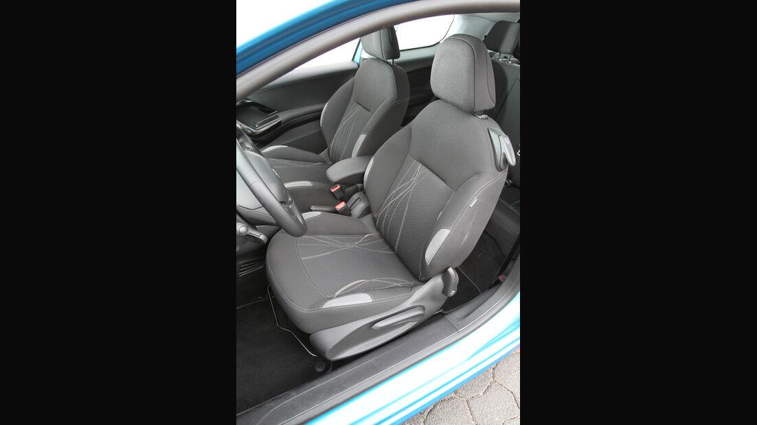 Peugeot 208, Fahrersitz