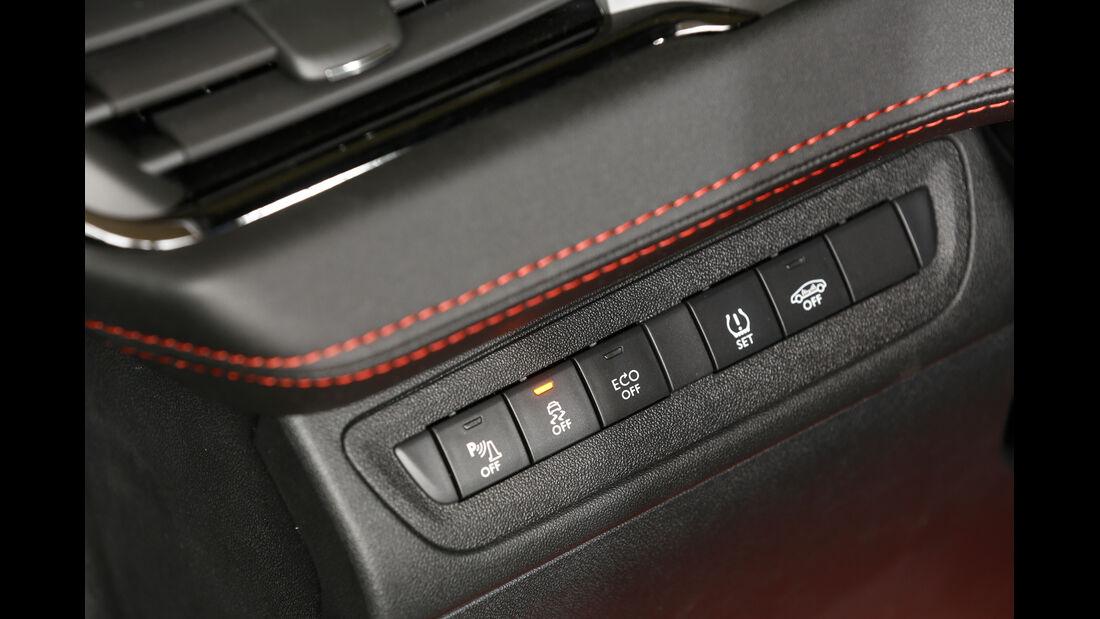 Peugeot 208 GTi 30th, Bedienelemente