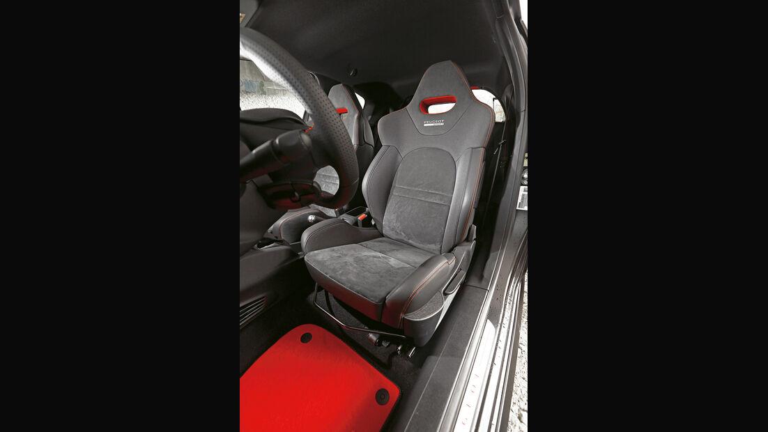 Peugeot 208 GTi 30th, Fahrersitz