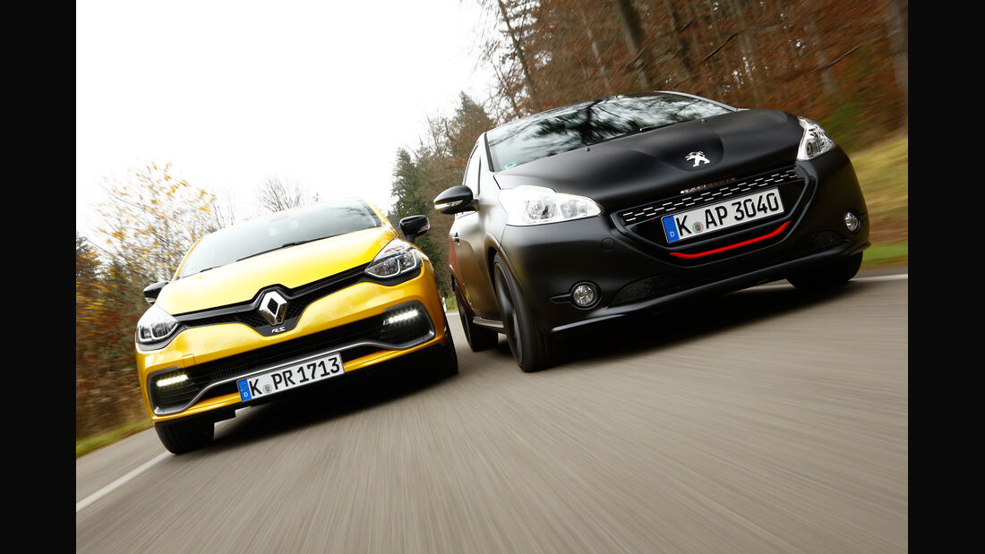Peugeot 208 GTi 30th, Renault Clio R.S., Frontansicht