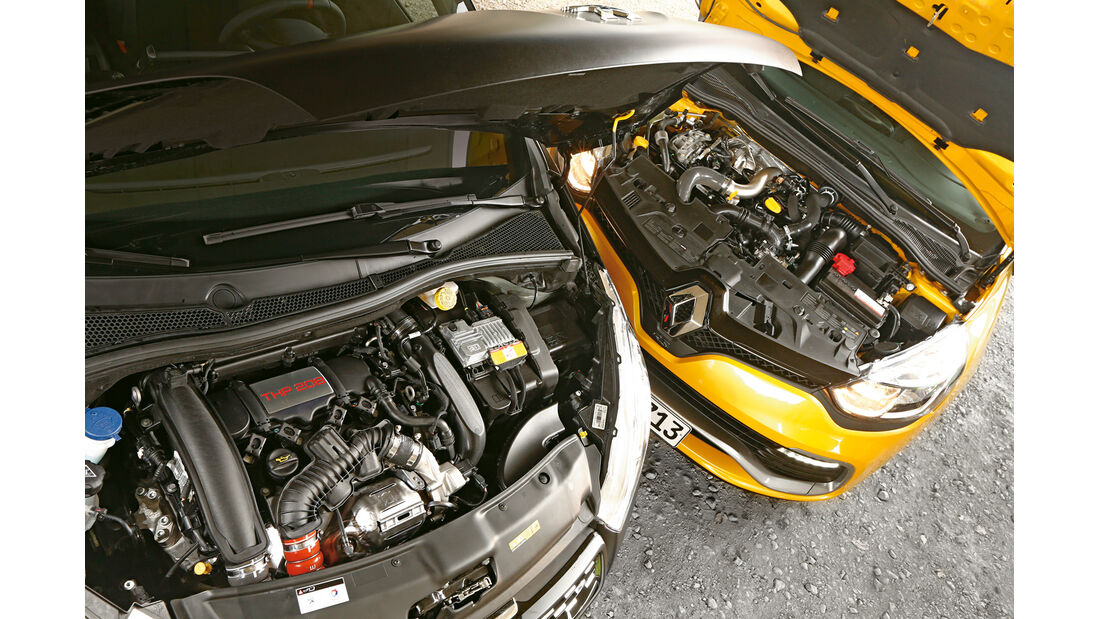 Peugeot 208 GTi 30th, Renault Clio R.S., Motoren
