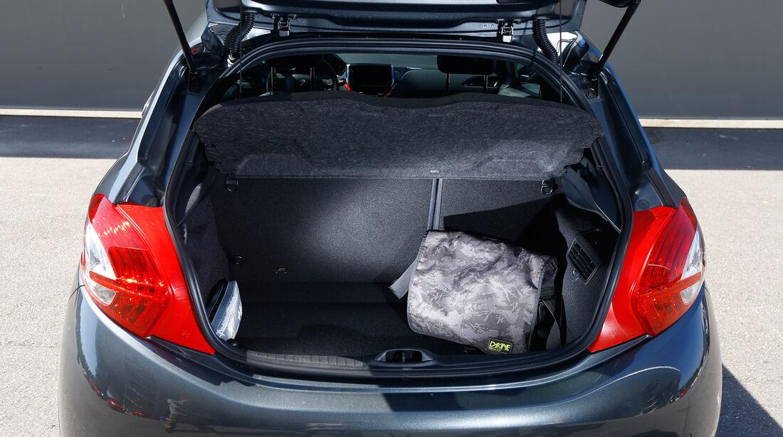 Peugeot 208 GTi, Kofferraum