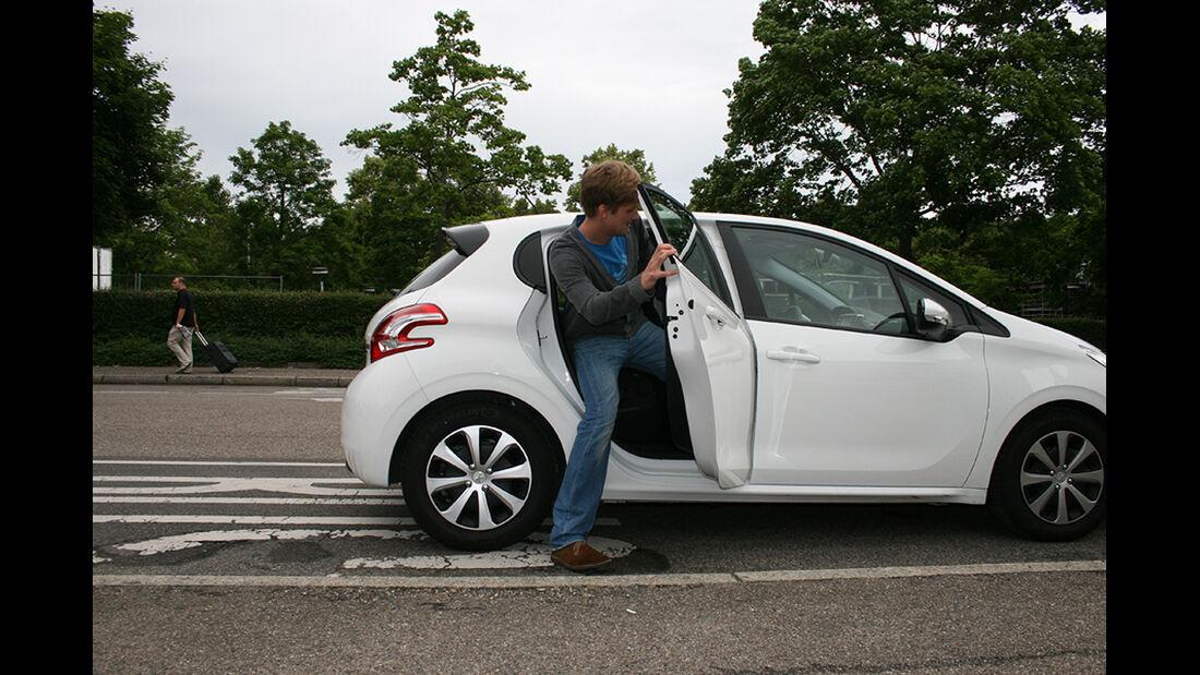 Peugeot 208, Innenraum-Check, Fond