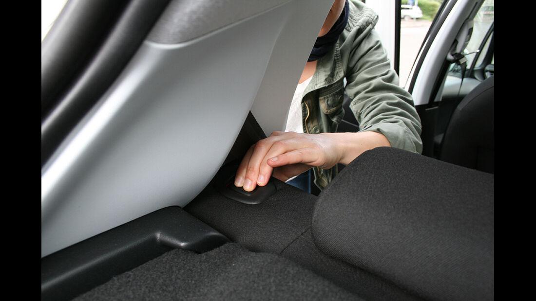 Peugeot 208, Innenraum-Check, Rückbank
