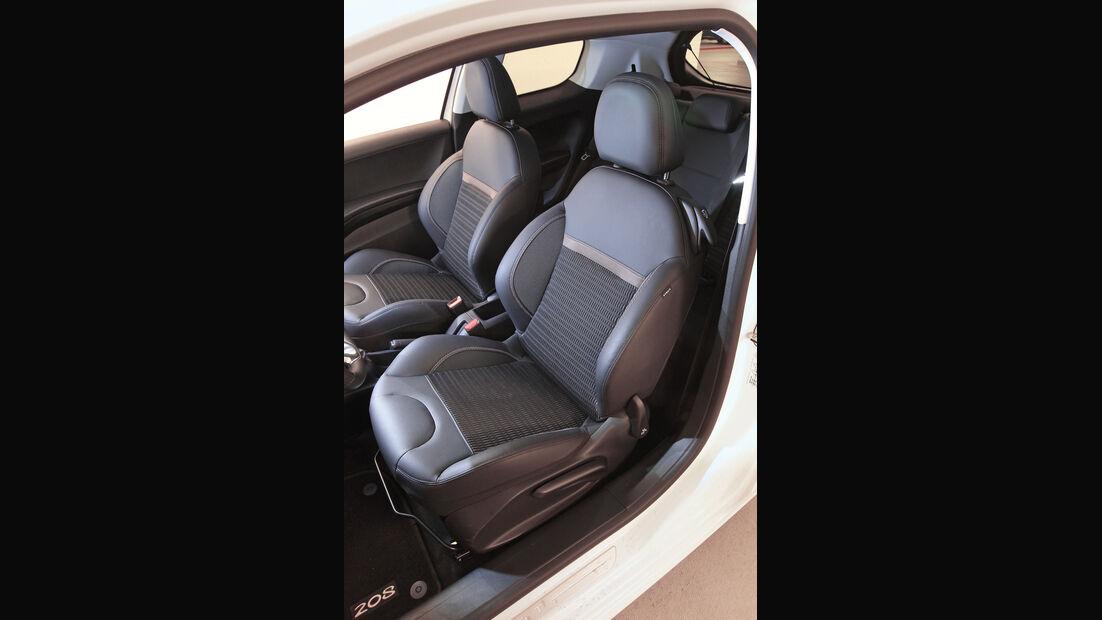 Peugeot 208 THP 155 Allure, Fahrersitz