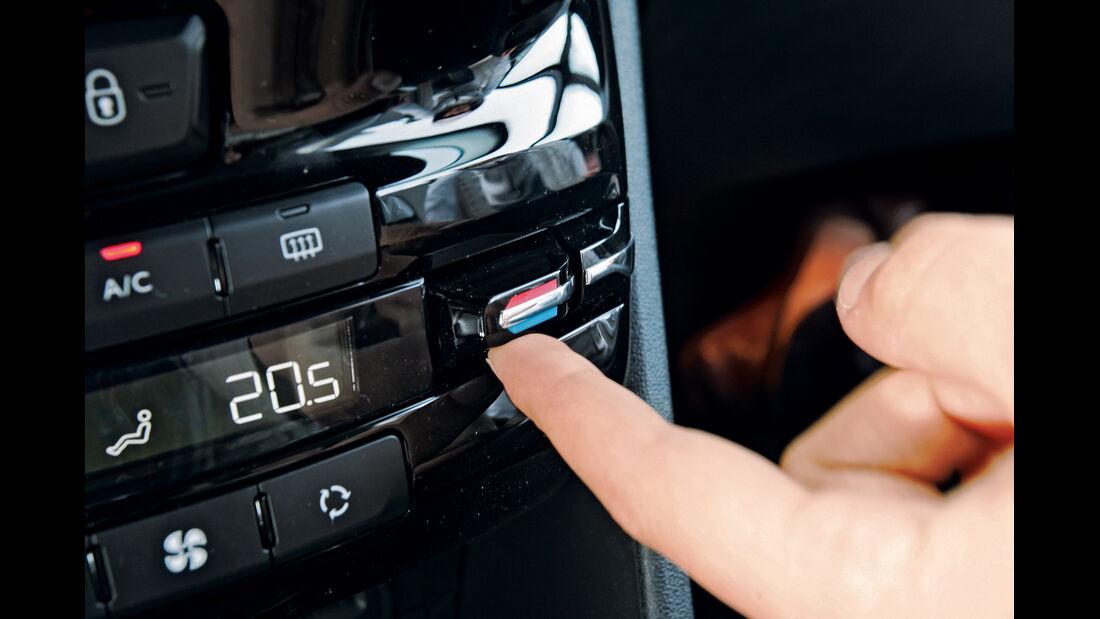 Peugeot 208 e-Hdi 115, Temperaturwahl