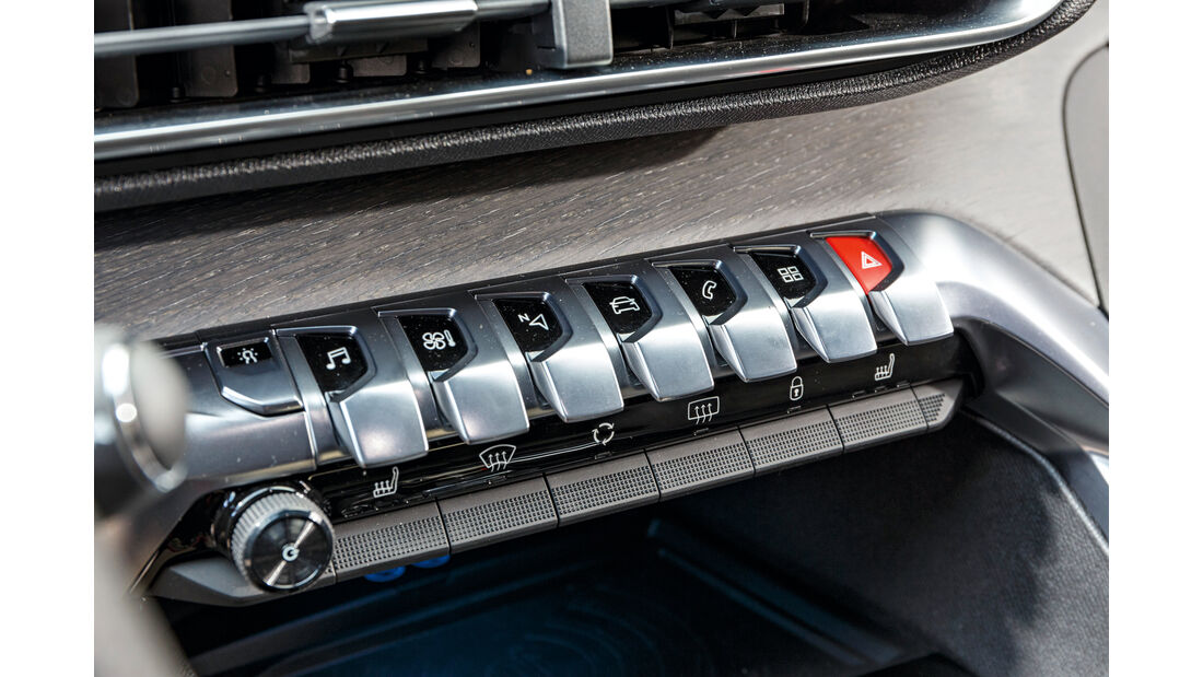 Peugeot 3008 BlueHDi 180, Bedienelemente