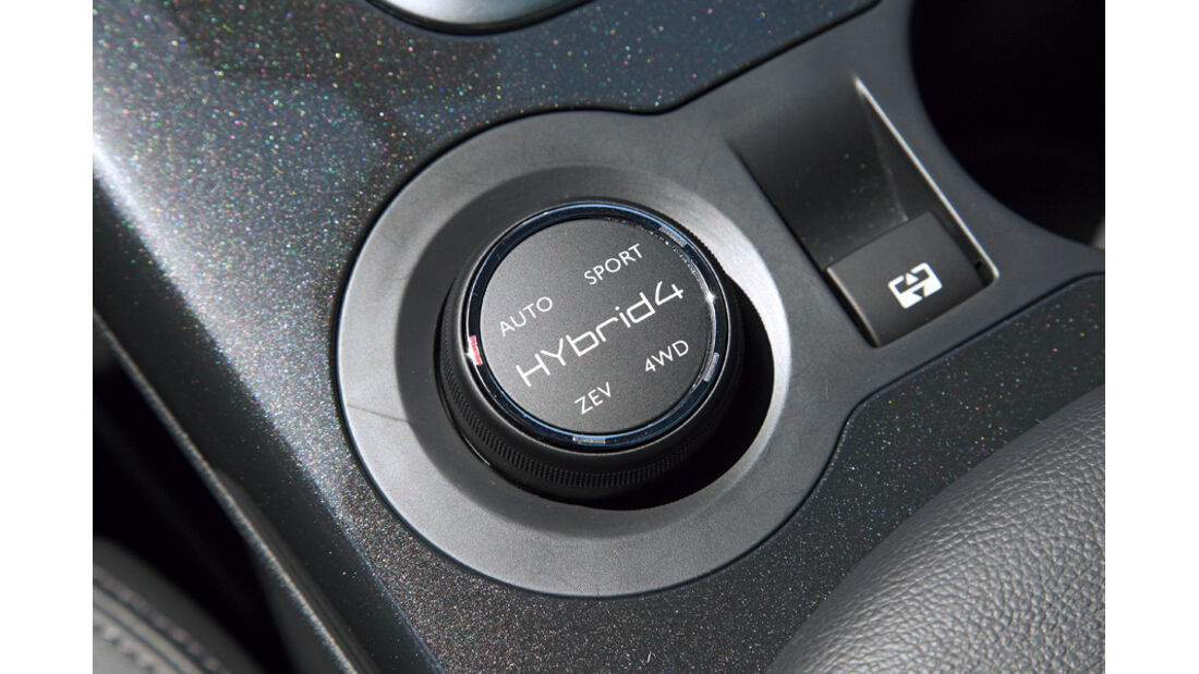 Peugeot 3008 Hybrid4, Antriebregler