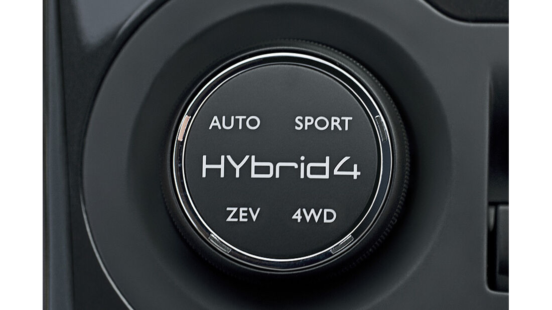 Peugeot 3008 Hybrid4 Startknopf