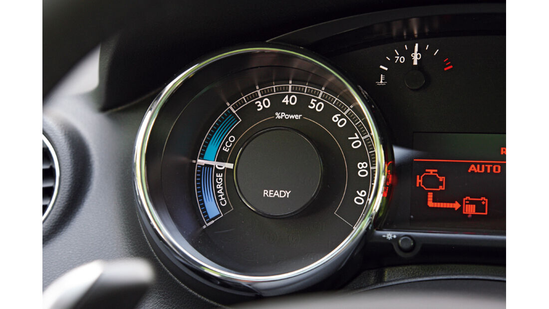 Peugeot 3008 Hybrid4, Tacho