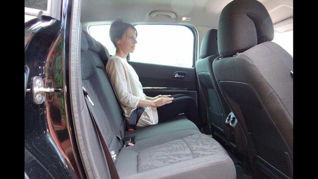 Peugeot 3008, Innenraum-Check, Fond
