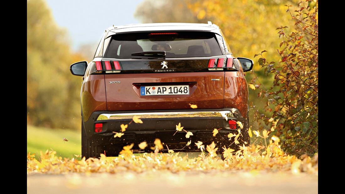 Peugeot 3008 Puretech 130, Heckansicht