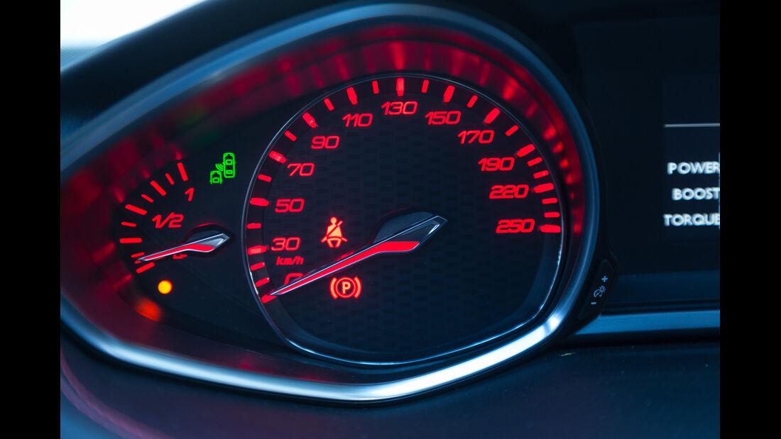 Peugeot 308 GT THP 205, Rundinstrument, Tacho
