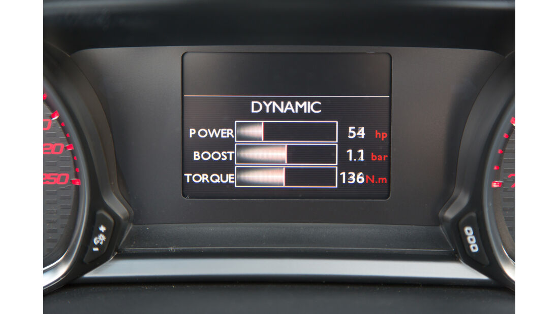 Peugeot 308 GT, ams Fahrbericht, Anzeige