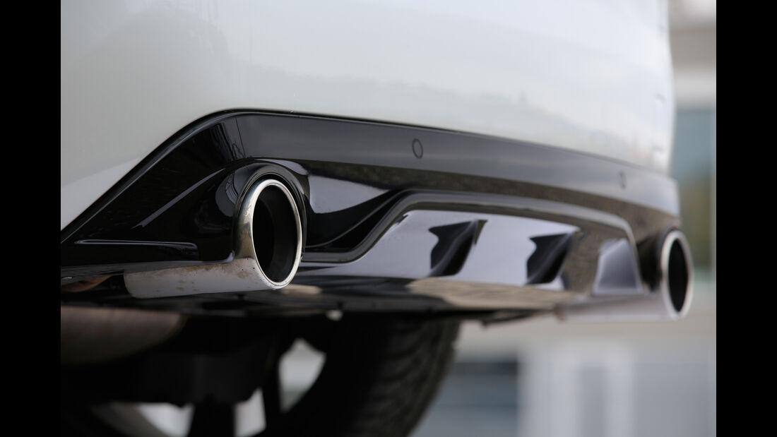 Peugeot 308 GTi, Auspuff, Endrohre