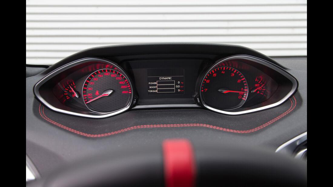 Peugeot 308 GTi THP 270, Rundinstrumente