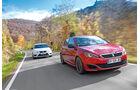 Peugeot 308 GTi THP 270, Seat Leon Cupra 280, Frontansicht