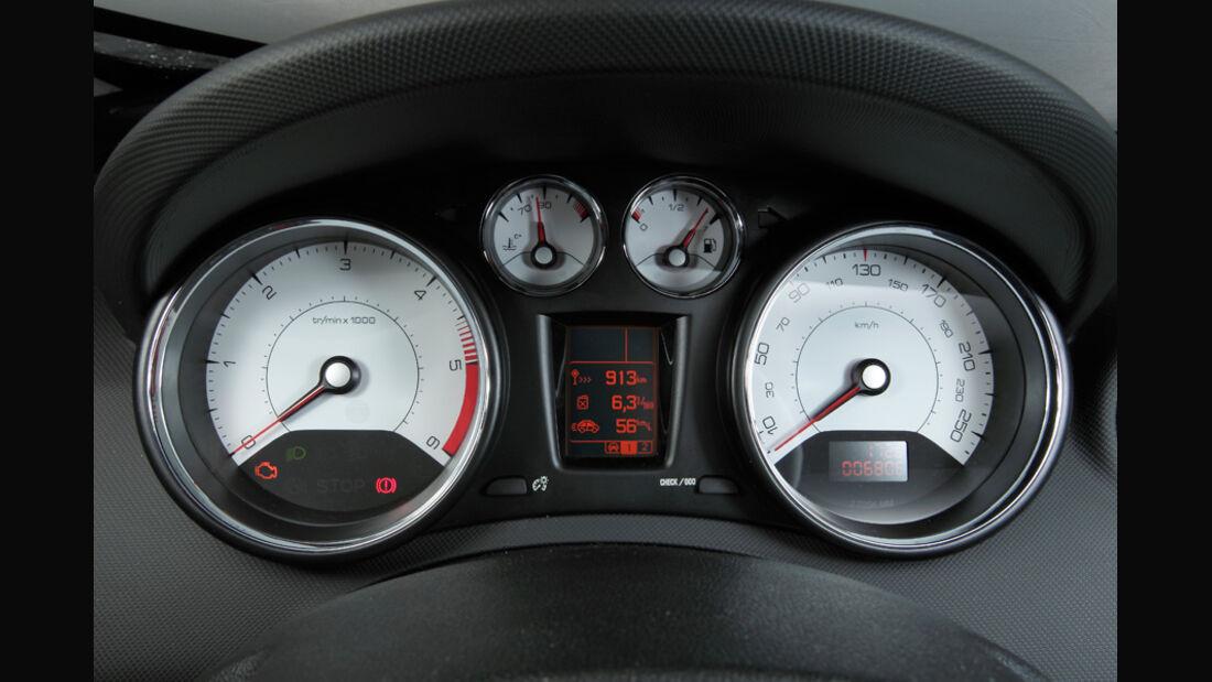 Peugeot 308 Hdi, Rundinstrumente