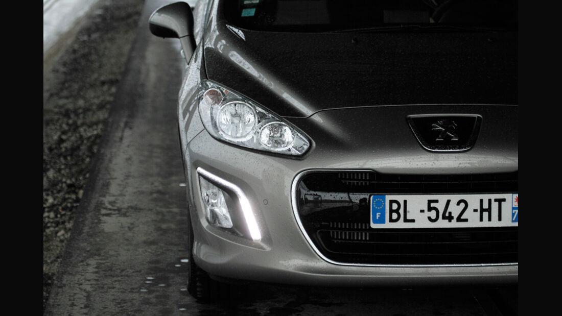 Peugeot 308 Hdi, Scheinwerfer
