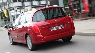 Peugeot 308 SW 155 THP, Rückansicht, Heck