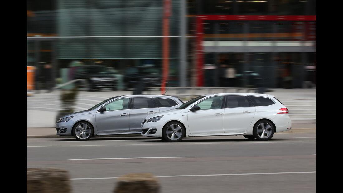 Peugeot 308 SW Puretech 130 gegen Peugeot 308 SW Blue HDi 150