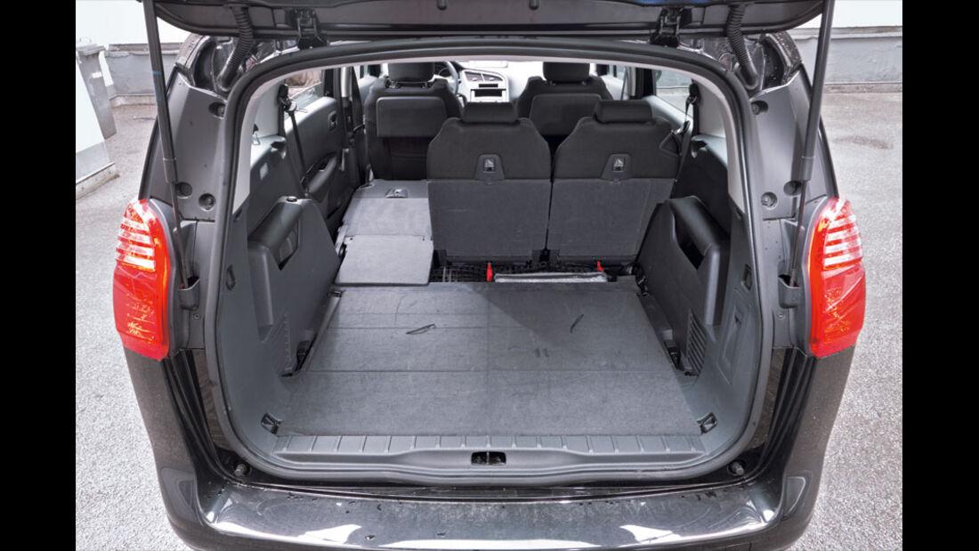 Peugeot 5008, Kofferraum