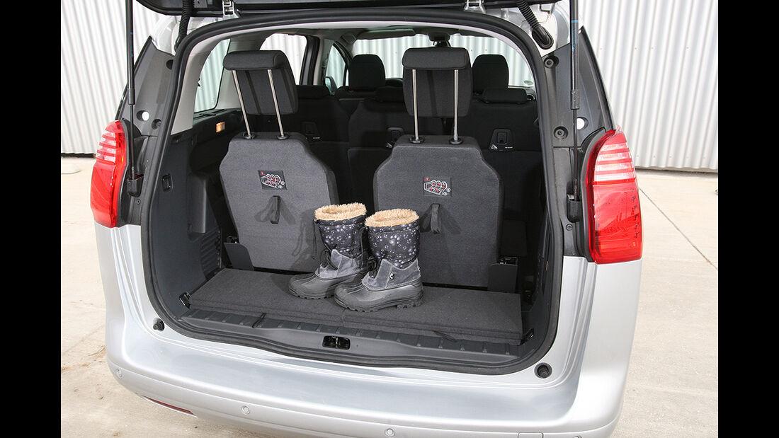 Peugeot 5008, Kofferraum, dritte Sitzreihe