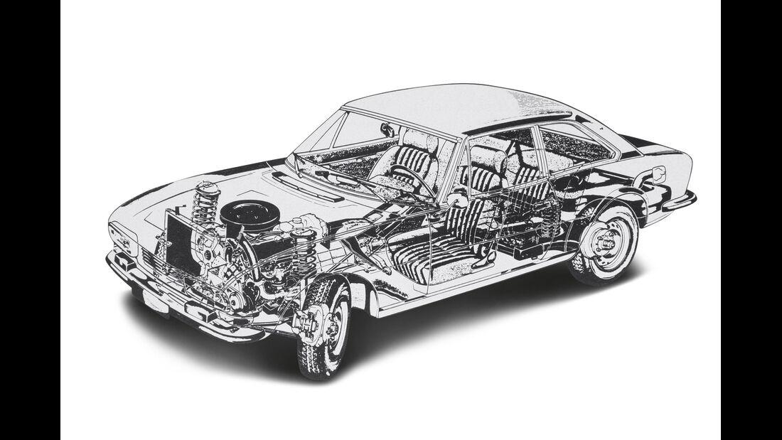 Peugeot 504 Coupé, Durchsicht