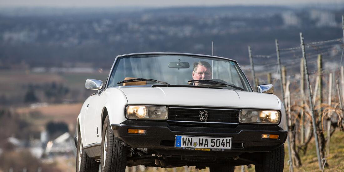 Peugeot 504 TI Cabrio, Frontansicht